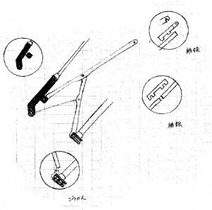 折りたたみ傘骨修理