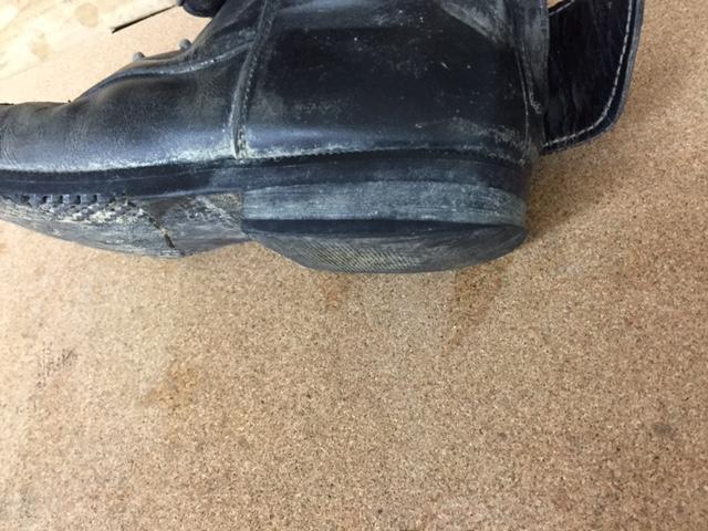 カカト修理 乗馬ブーツ